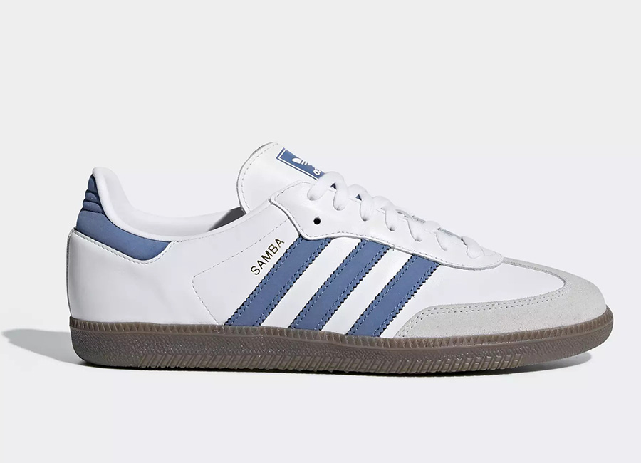 Adidas Samba OG Shoes - Ftwr White / Trace Royal / Crystal White