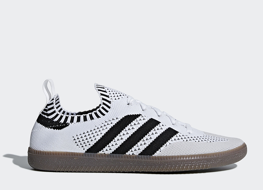 Adidas Samba Sock Primeknit Shoes - Ftwr White / Core Black / Bluebird