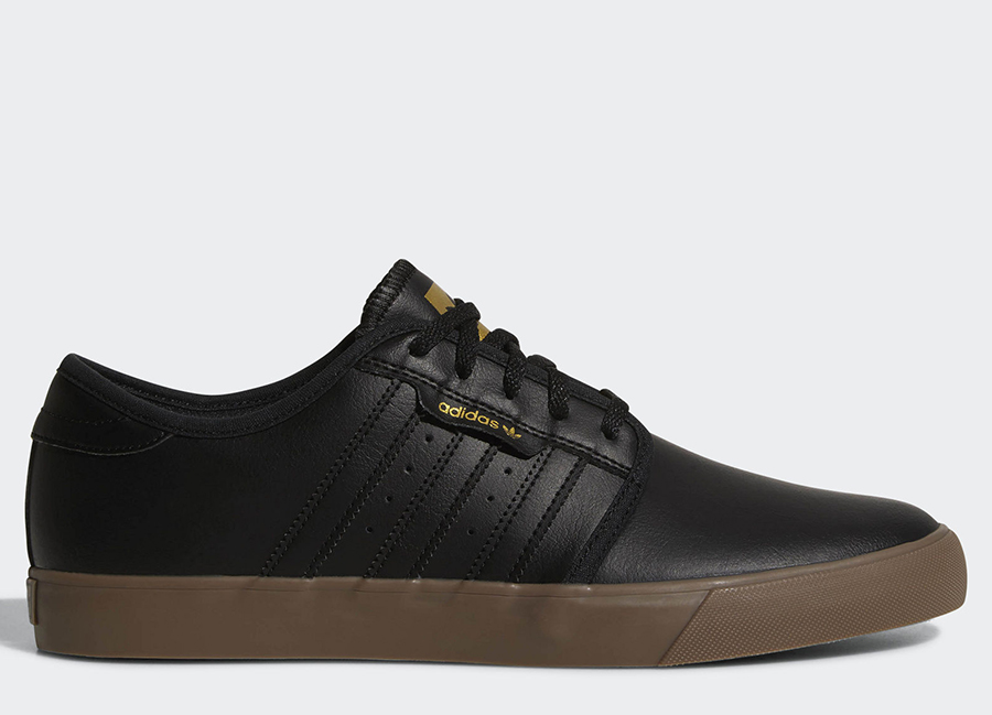 Adidas Seeley Shoes - Core Black / Gold Metallic / Gum