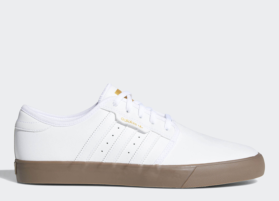 Adidas Seeley Shoes - Ftwr White / Gold Metallic / Gum
