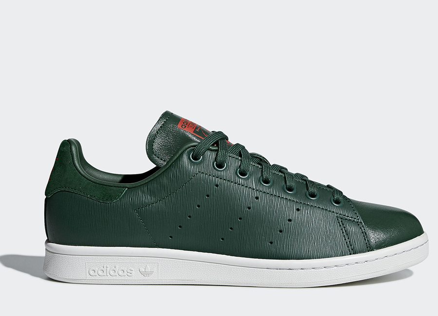 Adidas Stan Smith Shoes - Green / Red