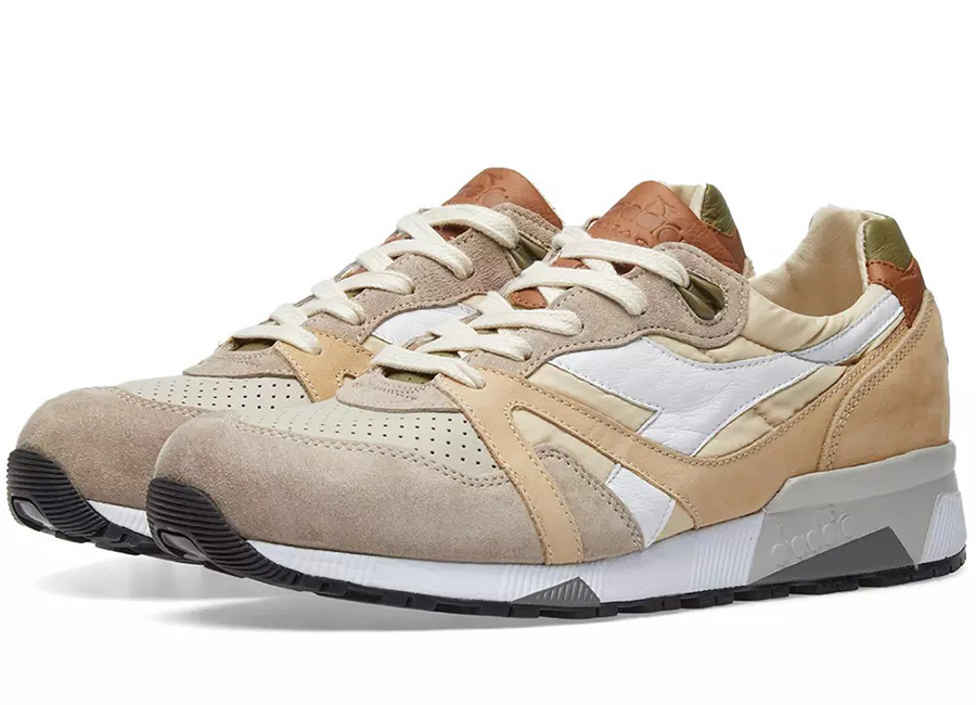 Diadora N9000 H ITA - Made In Italy - Feather Grey / Dried Herb