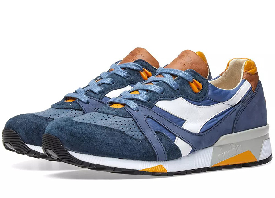 Diadora N9000 H ITA - Made In Italy - Mood Indigo / Sunflower