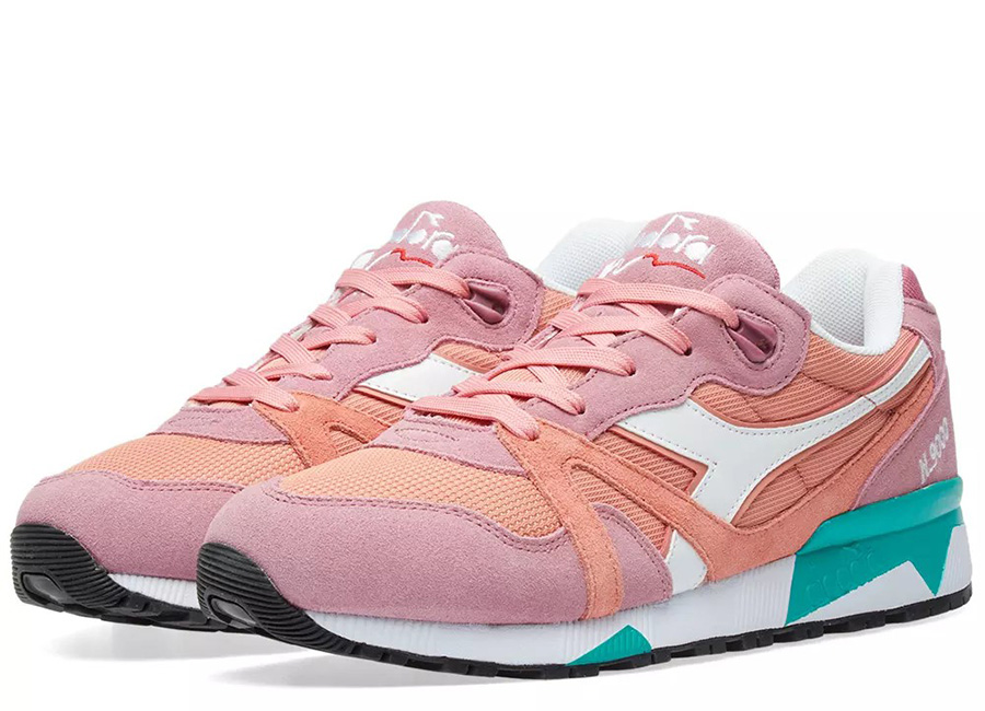 Diadora N9000 III - Heather Rose / Coral / Green