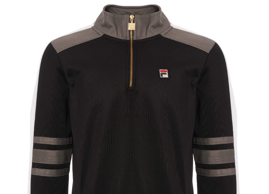 Fila Alastair Quarter Zip Track Top - Black