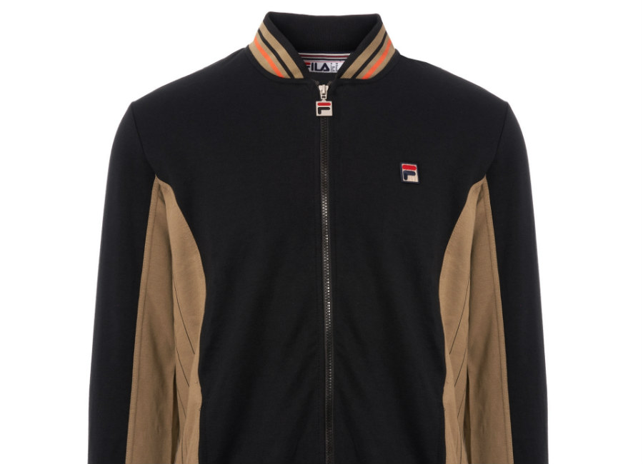 Fila Settanta Track Top - Black / Dry Grass / Cherry Tomato