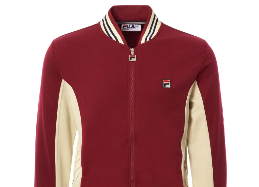 Fila Settanta Track Top - Tibetan Red / Oyster White / Peacoat