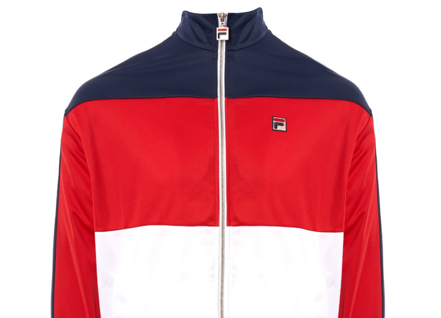 Fila Sterling Track Top - Chinese Red / White
