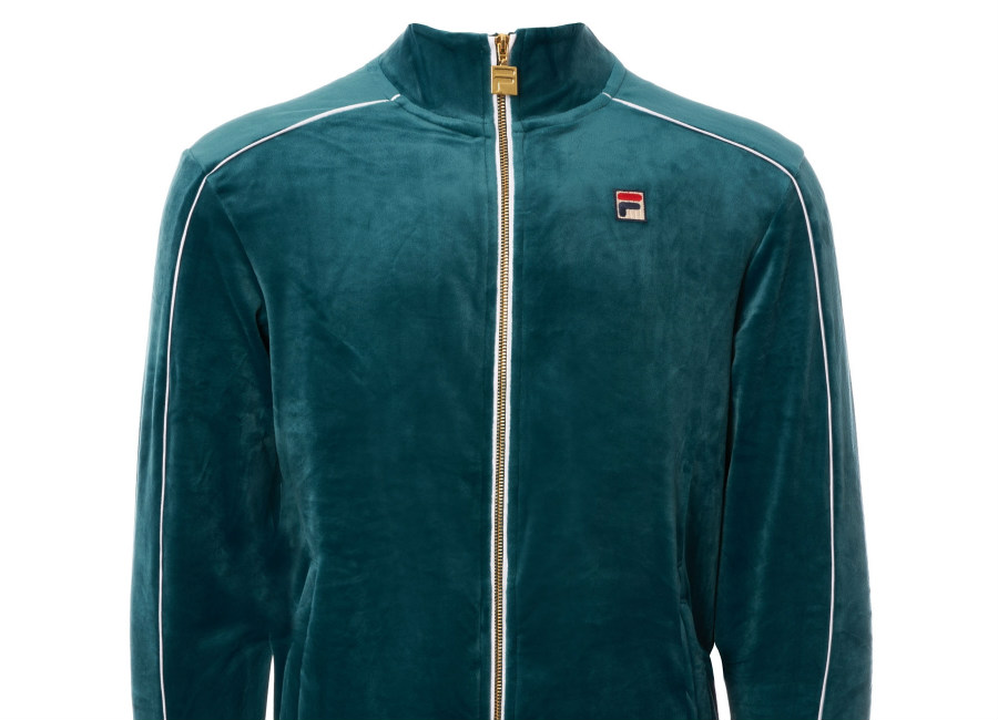Fila Velour Lineker Track Top - Atlantic Deep / White