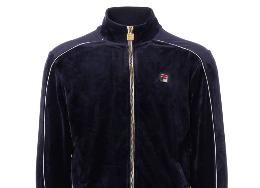 Fila Velour Lineker Track Top - Peacoat / White