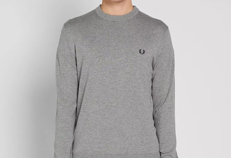 Fred Perry Classic Cotton Crew - Steel Marl