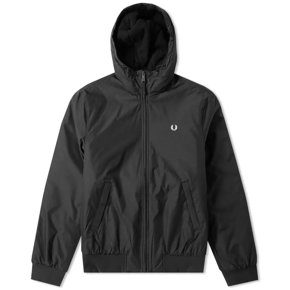 Fred Perry Hooded Padded Brentham - Black