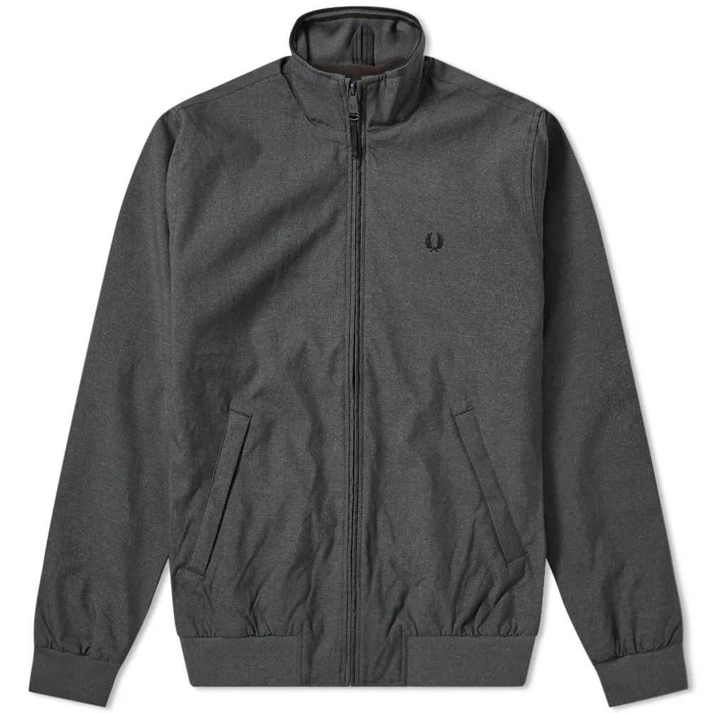 Fred Perry Marl Brentham Jacket - Charcoal