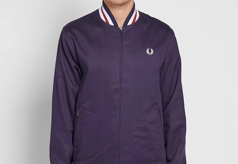 Fred Perry Reissues Made In England Bomber Jacket - Navy