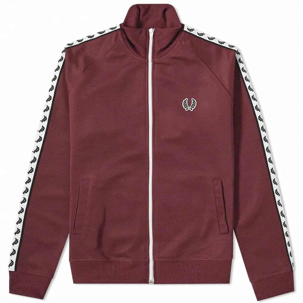 Fred Perry Taped Track Jacket - Mahogany