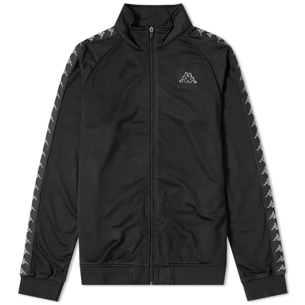 Kappa Banda Anniston Slim Track Top - Black / Grey