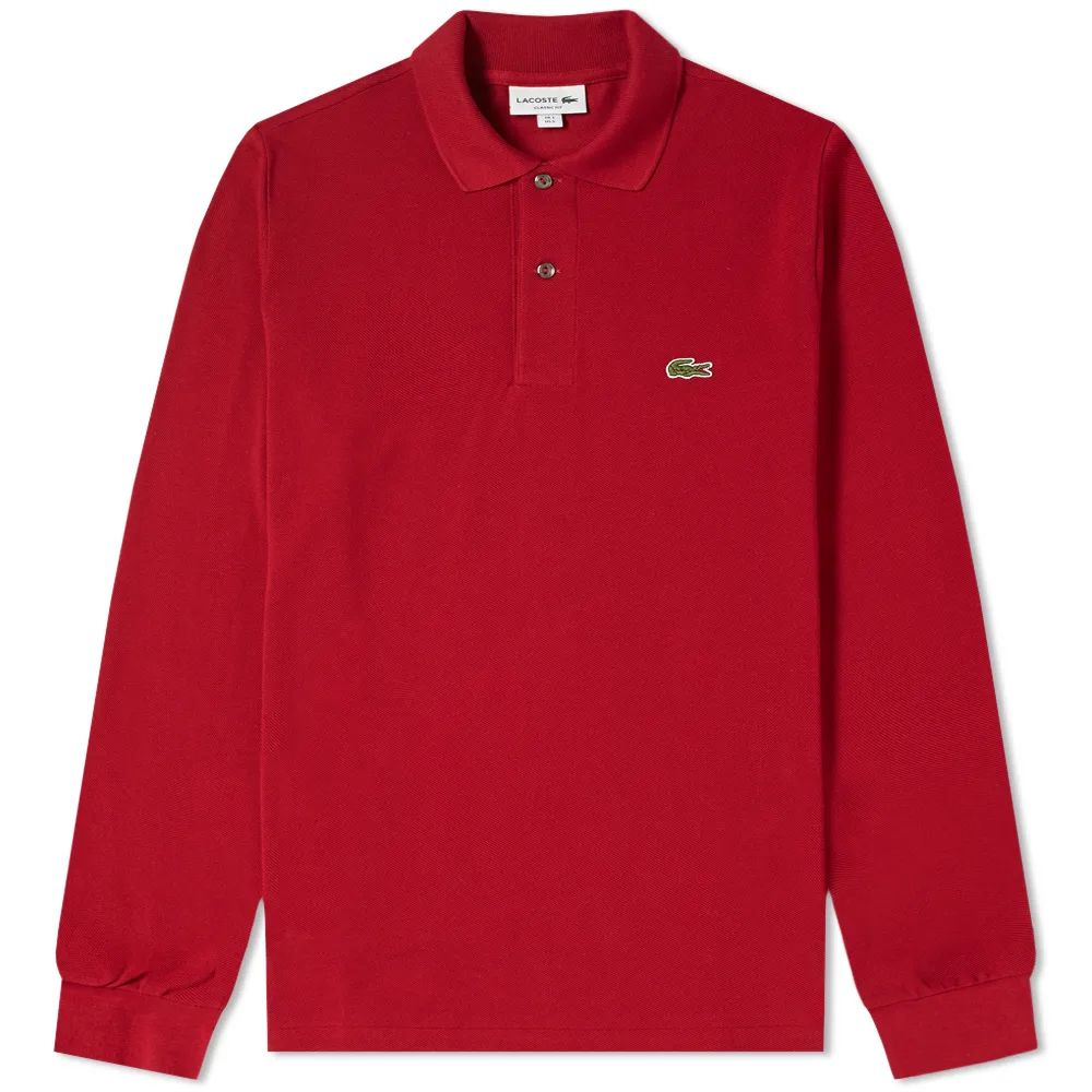 Lacoste Long Sleeve Classic Pique Polo - Bordeaux
