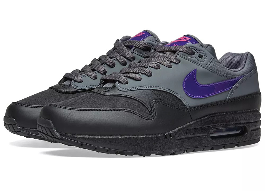 Nike Air Max 1 - Dark Grey / Purple / Pink