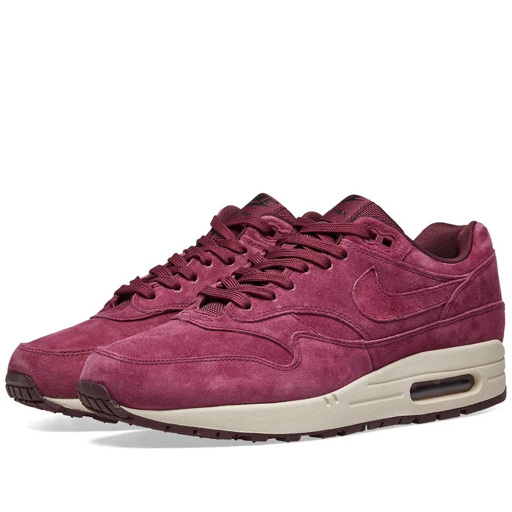 Nike Air Max 1 Premium - Bordeaux / Sand / Burgundy