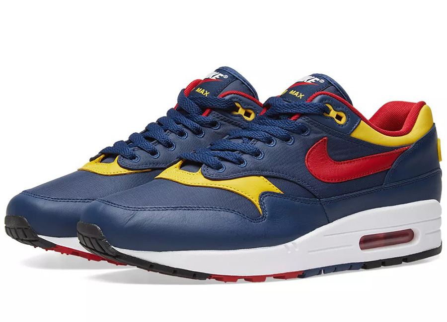 Nike Air Max 1 Premium - Navy / Gym Red / Vivid Sulfur