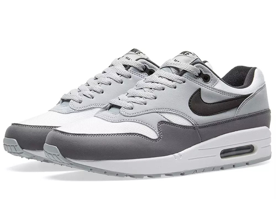 Nike Air Max 1 - White / Black / Wolf Grey