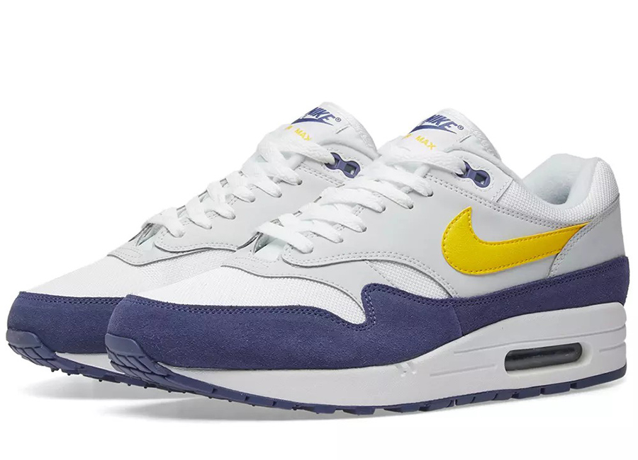 Nike Air Max 1 - White / Tour Yellow / Blue