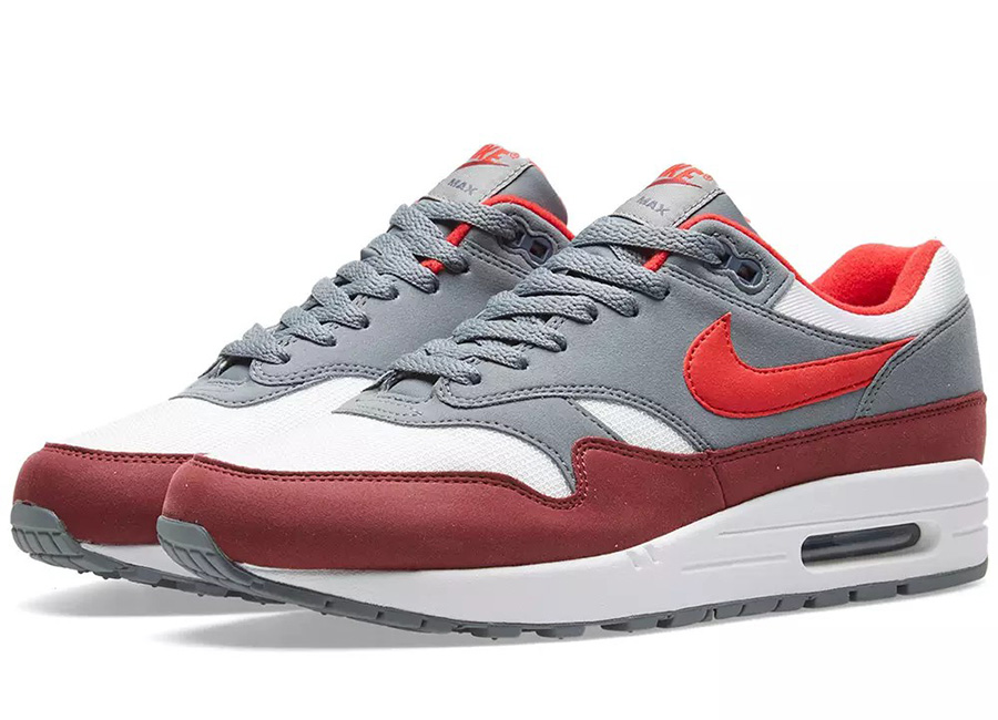 Nike Air Max 1 - White / University Red / Grey
