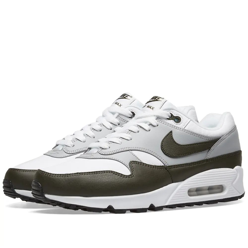 Nike Air Max 90/1 - White / Cargo Khaki / Black