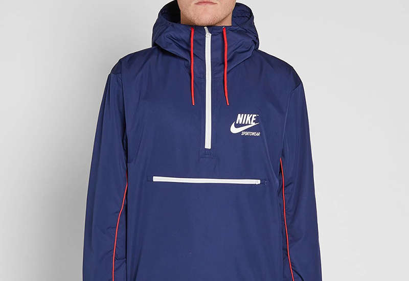 Nike Archive Hooded Jacket - Binary Blue / Red / White