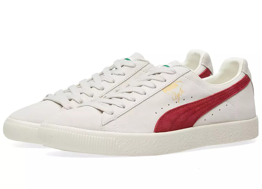 Puma Clyde From The Archive - Vaporous Grey / Red Dahlia